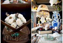 """Wilson & Dewi """"Cotton Flower Wonderland"""" Wedding by Flying Bride"""