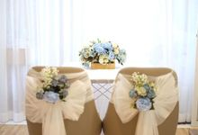 Solemnisation Table Setup Basic Package Classic Blue by Patson Decor