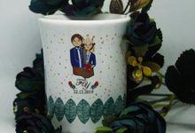 MUG F MINI LOVE WEDDING F & Y by Mug-App Wedding Souvenir