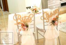 Solemnisation Table Setup Basic Package Elegant Rustic Orange by Patson Decor