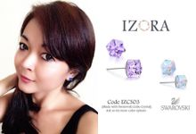 Swarovski Crystal and Pearl earrings by Izora Jewelry