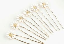Daisy Wedding Hair Pin 6pcs/set by Fairytale Undercover