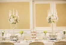 Classic White Wedding by Spring Cottage