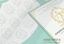 Blue-Gold Card by Memento Idea