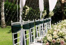 Intimate Wedding Decoration at Kayu Manis Resto by Bali Wedding Planner