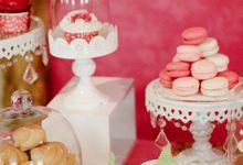A Pre-Wedding Dinner Dessert Table by Handkerchief