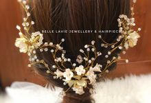 White flower Haircomb & Hairpin sets by Belle La_vie