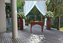 Ceremony Set Up at Theanna Villa by Million Rose Event Bali