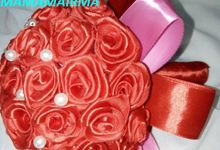 Fabric Satin HandBouquet by MAMAMAIRMA