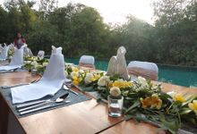 Table Set Up by Million Rose Event Bali