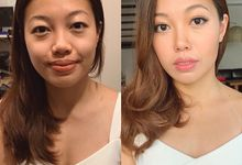 Before & After Makeup by By Gaby Tan