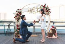 Monti Rooftop Proposal overlooking Marina Bay Sands by Lily & Co.