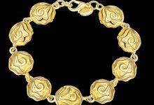 TIARIA Rose Shaped Gold Bracelet Perhiasan Gelang Emas by TIARIA