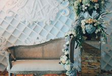 Hotel Borobudur Poolside Wedding of Markus & Arika by Sentra Bunga