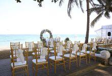 Wedding Day of Brent & Merina by Puri Santrian Resort