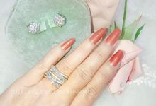 Marquise ring & square earring by Belle La_vie
