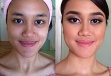 Bridesmaid for Gisella & Adhi Wedding by Calenia Letitia Makeup Artist