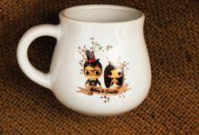 MUG F MINI LOVE WEDDING BENNY & DESTALIA by Mug-App Wedding Souvenir
