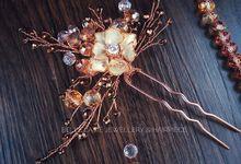Rose gold vine flower.  by Belle La_vie