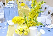 Blue and Yellow Theme by Hizon's Catering