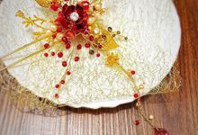 Red Scarlet Chinese Hairpin for Ms.Nerissa by Belle La_vie