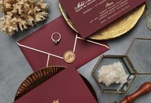 Luxe Burgundy Invitation by Ello Props