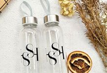 Tumbler Wedding Favors Souvenir Botol Minum Rustic by Rusticlatte