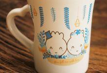 MUG F MINI LOVE DESAIN ALEX & EVA by Mug-App Wedding Souvenir
