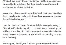 Testimonials from our clients by A Little Dream