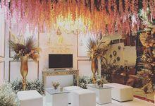Nusa dua beach hotel and spa Bali wedding booth  by Petunia Decor