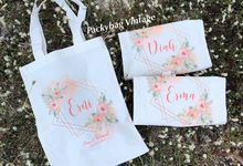 TOTEBAG CUSTOM FOR BRIDESMAID  by Packy Bag Vintage