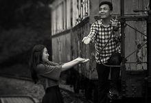 Prewedding Putri and Ogie at musium transportasi TMII by Therudisuardi