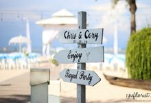 Wedding of Chris Corry by Bali Yes Florist