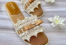 Our Wedding Make-up Room Slippers by Aveda Footwear