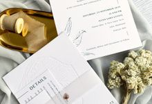 Modern Minimalist Tropical by Trouvaille Invitation