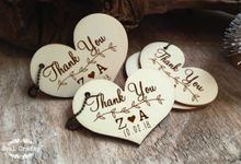 Personalized Wooden Thank you gift tags by Soul Crafty