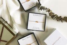 Erwina Name Bracelet Bridesmaid Gift by AEROCULATA