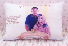 Wedding Photo Pillow by PluieCraft