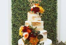 RUSTIC GARDEN WEDDING CAKE by KAIA Cakes & Co.