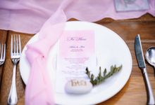 Intimate Garden Dinner - Lush Pink Theme by Kayumanis Nusa Dua Private Villa & Spa