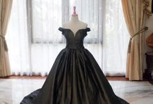 Off  Shoulder Black Ballgown by iLook ( Makeup & Couture )
