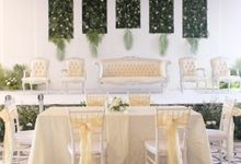 Green and White Wedding Decoration by Aston Priority Simatupang
