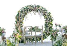 Wedding receptiont at Puri Santrian by Puri Santrian Resort