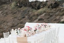 Dusty Pink Dream Wedding in Santorini by Stella & Moscha Weddings