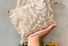 BINTANG WEDDING // Pouch zipper canvas  by Packy Bag Vintage