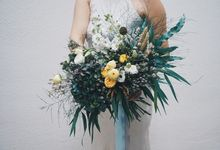 Whimsical Blue Hues by The Bloomish Eden