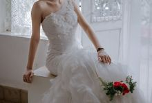 One Shoulder Fit and Flare Dress by Bee Bridal Center