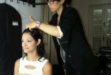 Backstage/Fashion Show by Amber Liu Make up and Hair
