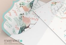 Floral Bird Wedding Card by Memento Idea
