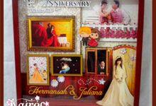Hermansah & Juliana Wedding 3d photo frame by Kairos Wedding Invitation